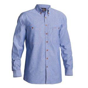Bisley B76407 Mens Chambray L/Sleeve Shirt