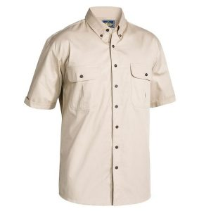 Bisley BS1255 Mens Mini Twill S/Sleeve Shirt