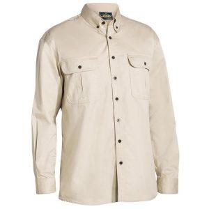 Bisley BS6255 Mens Mini Twill L/Sleeve Shirt