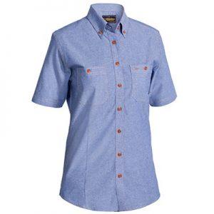 Bisley B71407L Womens Chambray S/Sleeve Shirt