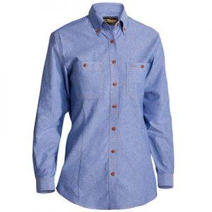 Bisley B76407L Womens Chambray L/Sleeve Shirt