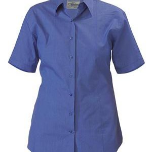 Bisley BL1646 Womens Cross Dyed S/Sleeve Shirt