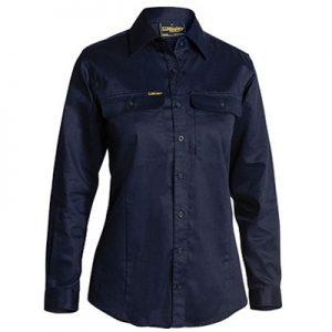 Bisley BL6339 Womens L/Sleeve Drill Shirt
