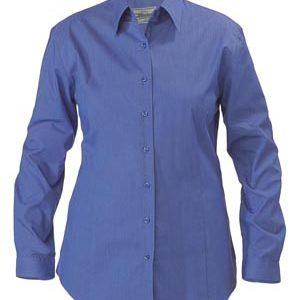 Bisley BL6646 Womens Cross Dyed L/Sleeve Shirt