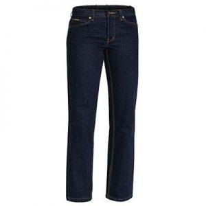 Bisley BPL6053 Ladies Industrial Boot Leg Work Denim Jeans