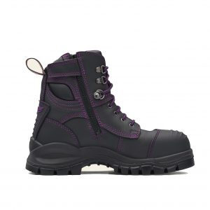 Blundstone 897 Ladies Lace with Zip & Scuff  Safety Boots Black