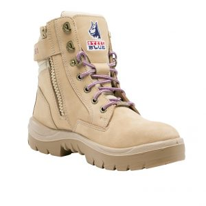 Steel Blue Ladies Southern Cross 592761 Zip PR Safety Boots Sand