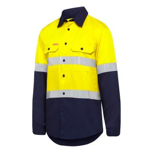 Hard Yakka Y07940 Mens Taped Hi-Vis Long Sleeve Shirt