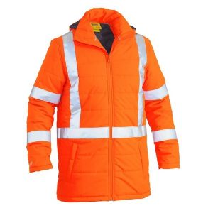 Bisley BJ6379XT X Taped Hi Vis Puffer Jacket