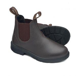 Blundstone 630 Black Kids Slip On Boots Brown