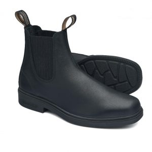 Blundstone 663 Black Dress Slip On Boots Non Safety