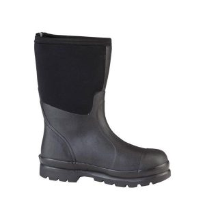 SCHM-000A Non Safety Muck Chore Mid Black Boot