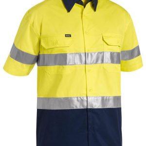 Bisley BS1896 2 Tone Hi Vis Cool Lightweight Short Sleeve Shirt