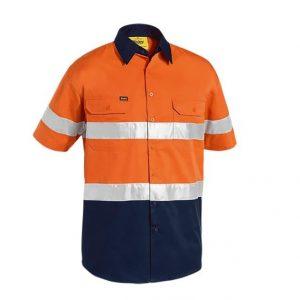 Bisley BS1896 2 Tone Hi Vis Cool Lightweight S/S Shirt