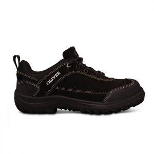 Oliver 34-613 Black Lace Up  Safety Jogger