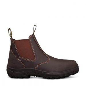 Oliver 34-626 Claret Elastic Sided Safety Boot