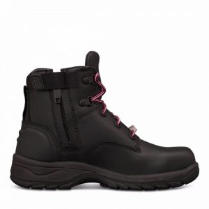 Oliver 49-445Z Women's Black Zip Sided Safety Boot