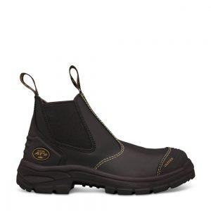 Oliver 55-320 Black Elastic Sided Safety Boot