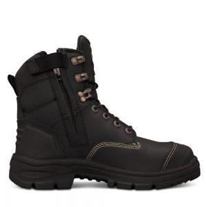 Oliver 55-345Z 150mm Black Zip Sided Safety Boot