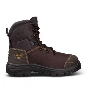 Oliver 65-490 150mm Brown Lace Up Safety Boot - Waterproof & Caustic Resistant