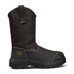 Oliver 65-493 240mm Brown Pull On Riggers Safety Boot - 100% Waterproof