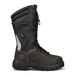 Oliver 65-791 350mm Black Laced In Zip Mining Boot - 100% Waterproof