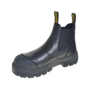 Wide Load 490BPO - Black Elastic Sided Pull On Work Boot