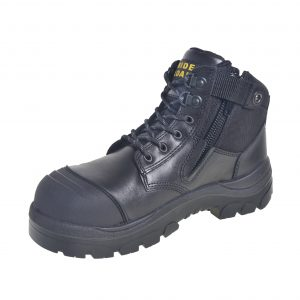 Wide Load 690BZN 6inch Black Non Safety Zip Up Boot