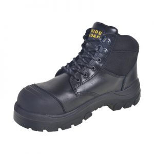 Wide Load 690BL - 6inch Black Steel Toe Lace Boot