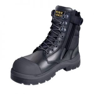Wide Load 890BZ - 8Inch Black Steel Toe Zip Up Boot