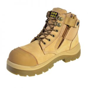 Wide Load 690WZ - 6inch Wheat Steel Toe Zip Side Boot