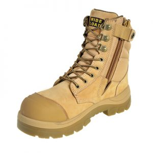 Wide Load 890WZ - 8Inch Wheat Steel Toe Zip Up Boot