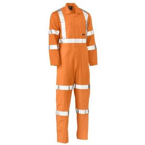 Bisley BC6316XT X TAPED HI VIS LIGHTWEIGHT DRILL RAIL COVERALL