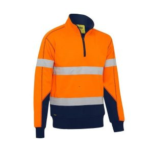 Bisley BK6987T  TAPED HI VIS FLEECE PULLOVER WITH SHERPA LINING