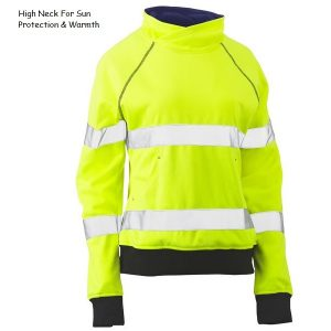 Bisley BKL6818T WOMENS TAPED HI VIS FLEECE JUMPER