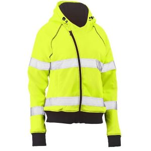 Bisley BKL6819T WOMENS TAPED HI VIS FLEECE HOODIE