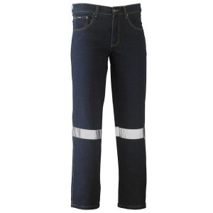 Bisley BP6712T 3M TAPED ROUGH RIDER STRETCH DENIM JEANS