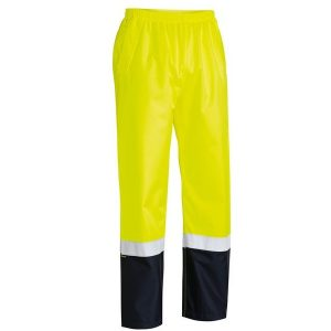 Bisley BP6965T TAPED TWO TONE HI VIS SHELL RAIN PANT