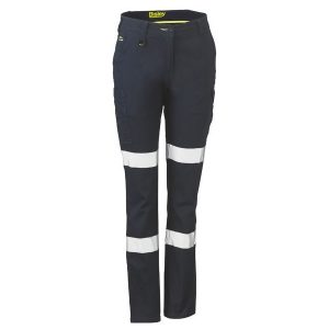 Bisley BPL6115T WOMENS TAPED COTTON CARGO PANTS