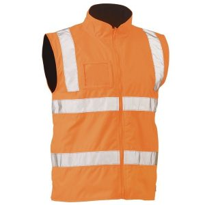 Bisley BV0364T TAPED HI VIS RAIL WET WEATHER VEST