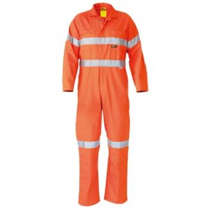 Bisley BC6718TW HI VIS LIGHTWEIGHT COVERALLS 3M REFLECTIVE TAPE
