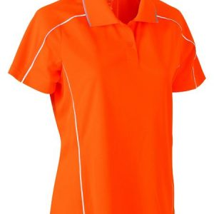 Bisley BKL1425 Women's Cool Mesh Polo with Reflective Piping