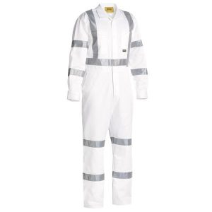 Bisley BC6806T 3M TAPED WHITE DRILL COVERALL