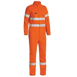 Bisley BC8085T TENCATE TECASAFE® PLUS 700 TAPED HI VIS ENGINEERED FR VENTED COVERALL