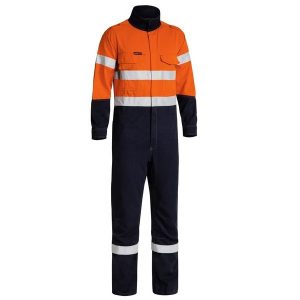 Bisley BC8086T Tencate Tecasafe® Plus 700 Taped Two Tone Hi Vis Engineered FR Vented Coverall