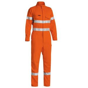 Bisley BC8185T TENCATE TECASAFE® PLUS 580 TAPED HI VIS LIGHTWEIGHT FR NON VENTED ENGINEERED COVERALL
