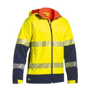 Bisley BJ6934T TAPED TWO TONE HI VIS RIPSTOP SOFTSHELL JACKET