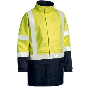 Bisley BJ6963T 3M TAPED TWO TONE HI VIS ANTI STATIC WET WEATHER JACKET