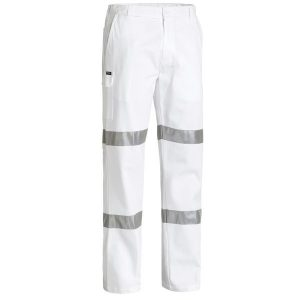 Bisley BP6808T 3M TAPED COTTON DRILL WHITE WORK PANT