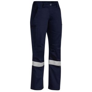 Bisley BPL6021T 3M TAPED INDUSTRIAL ENGINEERED WOMENS DRILL PANT